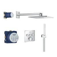 Duschsystem Unterputz Grohe Grohtherm SmartControl mit Rainshower 310 SmartActive Cube - 34706000