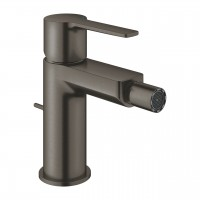 Grohe Lineare Bidetmischer S-Size mit Zugstangen-Ablaufgarnitur, hard graphite gebürstet - 33848AL1