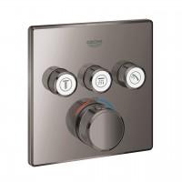 Thermostatmischer Grohtherm SmartControl mit 3 Absperrventilen, Farbe hard graphite - 29126A00