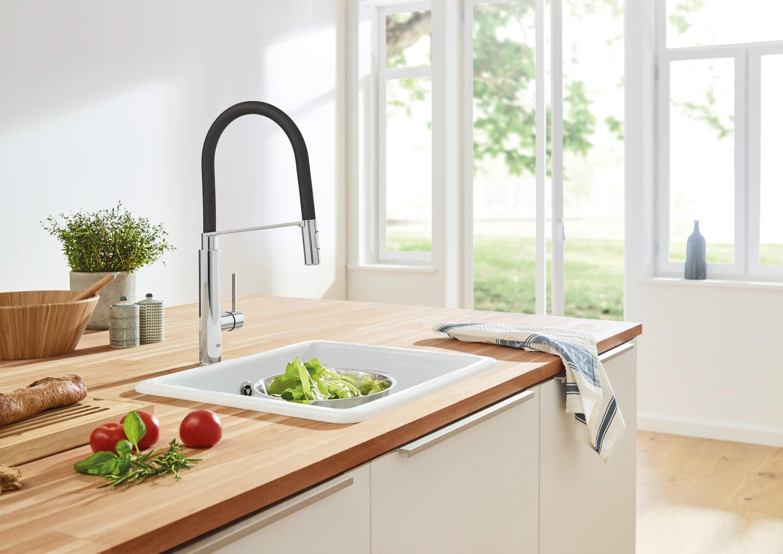 Grohe Küchenarmatur Mit Brause : grohe 31491000 kuechenarmatur mit profibrause 2 ~ Watch28wear.com Haus und Dekorationen