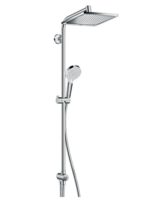 duschsystem hansgrohe crometta e showerpipe 240 1jet ecosmart reno 27289000 online verkauf. Black Bedroom Furniture Sets. Home Design Ideas