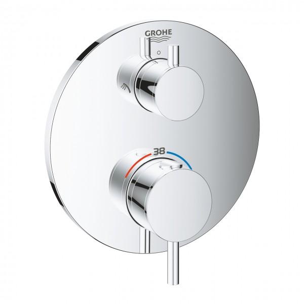 Grohe Atrio Thermostatmischer Dusche mit integrierter 2-Wege-Umstellung, chrom - 24135003