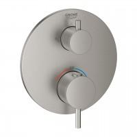 Grohe Atrio Thermostatmischer Dusche mit integrierter 2-Wege-Umstellung, supersteel - 24135DC3