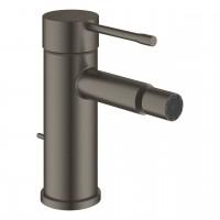 Bidetmischer Grohe Essence mit Zugstangen-Ablaufgarnitur, hard graphite gebürstet - 32935AL1