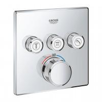 Thermostatmischer Grohtherm SmartControl mit 3 Absperrventilen, Ausführung chrom - 29126000