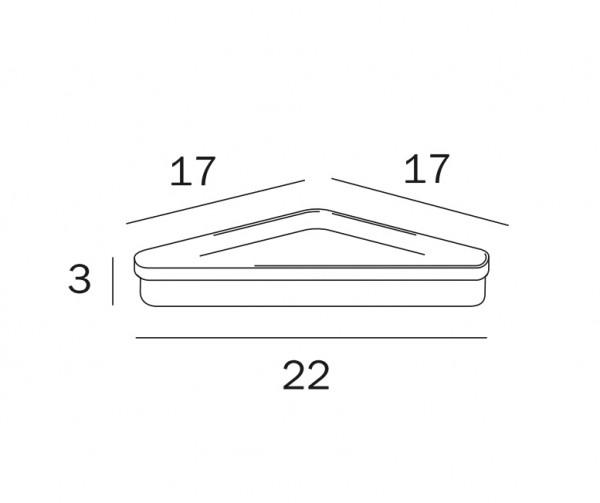 Acryl-Seifenschale transparent Inda - R04310