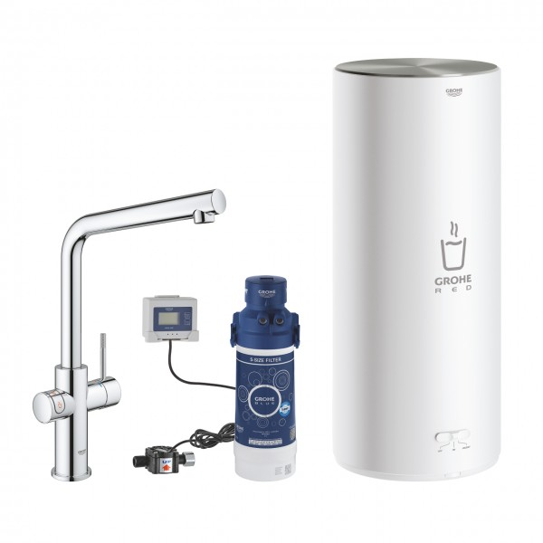 grohe red duo ii 30325001 mit 7 ltr boiler armatur in ausf hrung chrom. Black Bedroom Furniture Sets. Home Design Ideas
