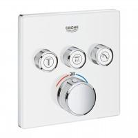 Thermostat Grohtherm SmartControl mit 3 Absperrventilen, Ausführung weiss-chrom - 29157LS0