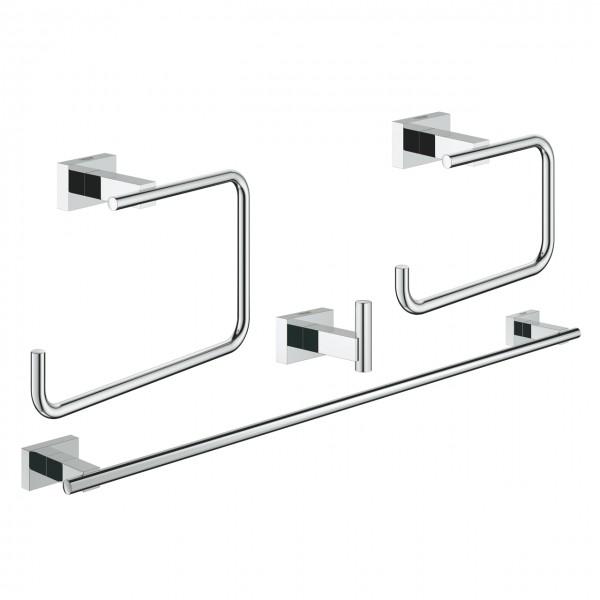 Bad-Zubehör-Set 4 in 1 chrom Grohe Essentials Cube - 40778001
