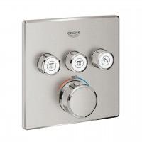 Thermostatmischer Grohtherm SmartControl mit 3 Absperrventilen, Ausführung supersteel - 29126DC0