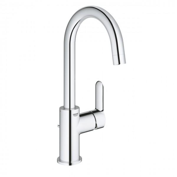 Waschtischmischer Grohe BauEdge, L-Size, mit Ablaufgarnitur, Ausführung chrom - 23760000