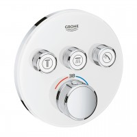 Thermostat Grohtherm SmartControl mit 3 Absperrventilen, weiss-chrom - 29904LS0