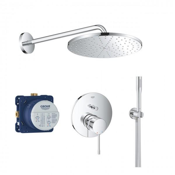 Duschsystem Unterputz Grohe Essence mit Kopfbrause Rainshower 310 Mono - ROUND211