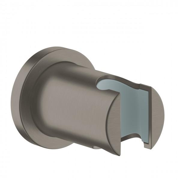 Handbrausehalter Grohe Rainshower, runde Rosette, hard graphite gebürstet - 27074AL0