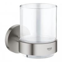 Mundglas mit Halter supersteel Grohe Essentials - 40447DC1