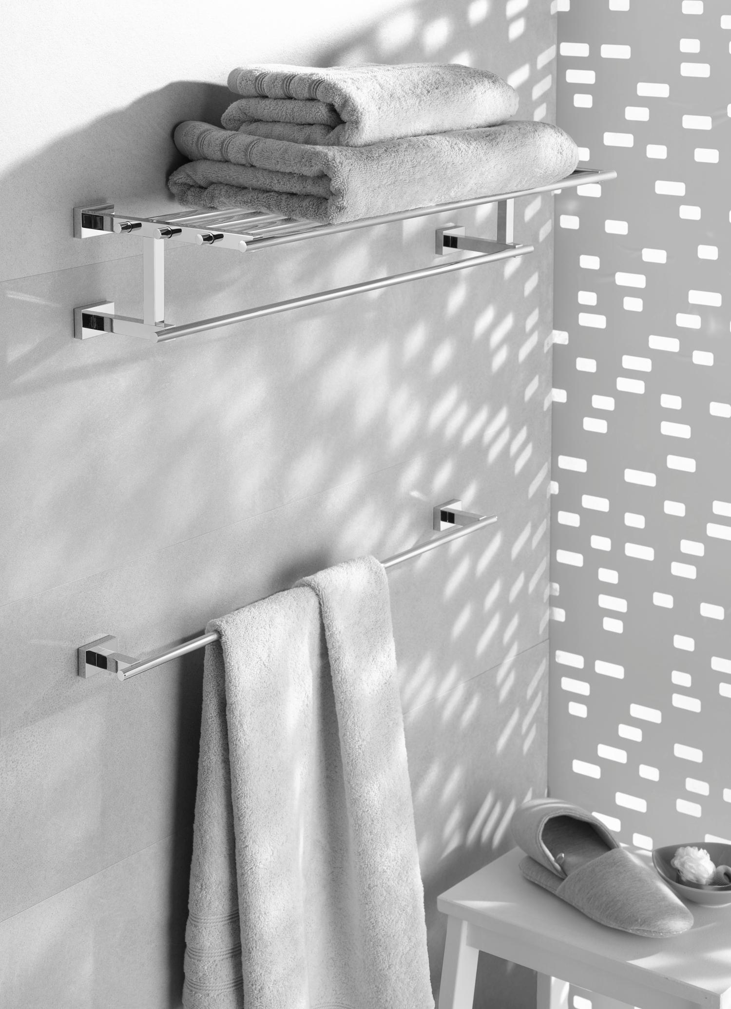 Multi Badetuchhalter mit Ablage chrom Grohe Essentials Cube