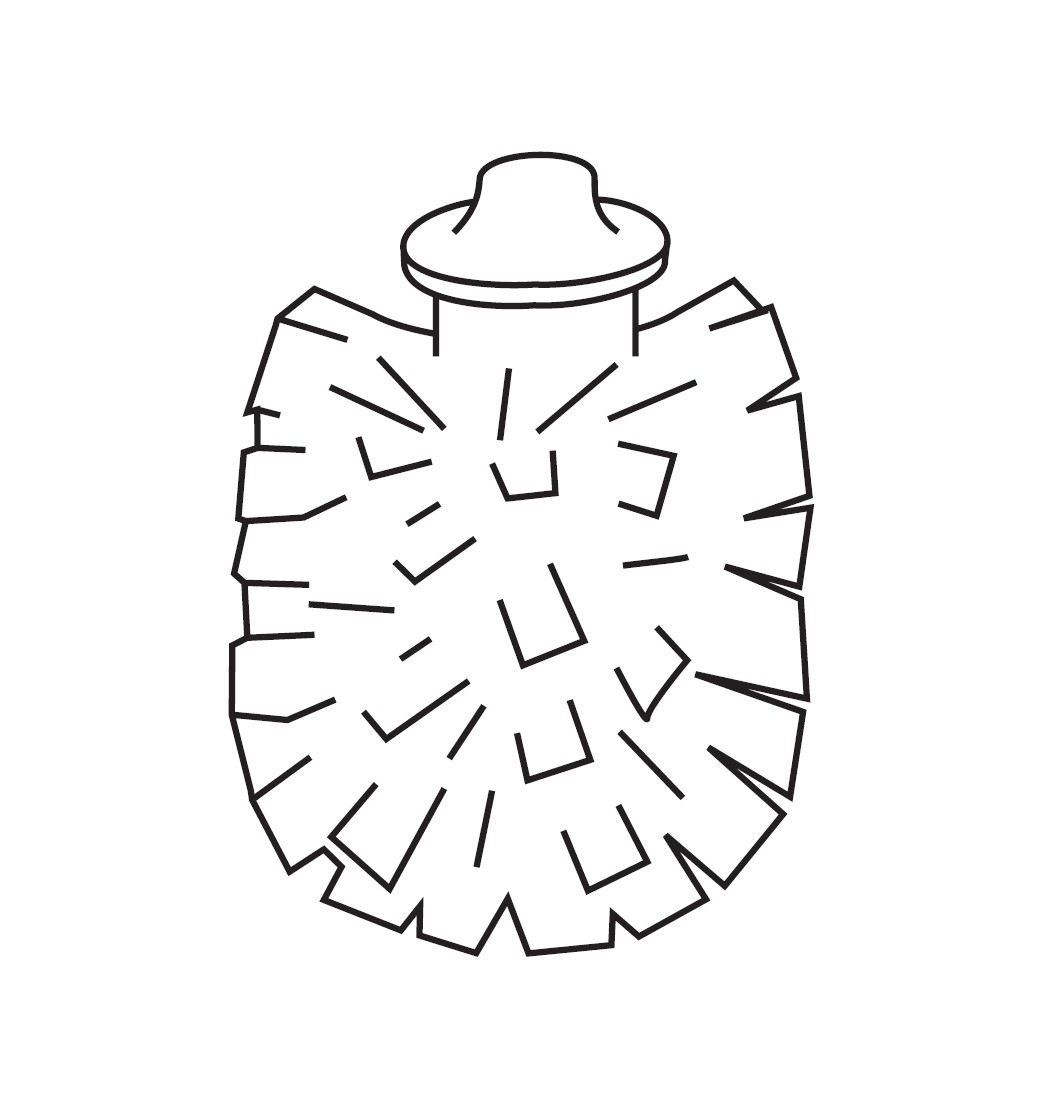 Ersatz-Bürstenkopf für Bürstengarnitur Inda Lea - R19140