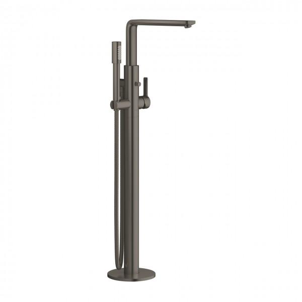Grohe Lineare Einhand-Wannenmischer bodenstehend, Ausführung hard graphite gebürstet - 23792AL1