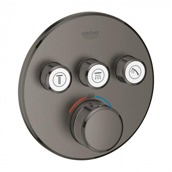 Thermostat Grohtherm SmartControl mit 3 Absperrventilen, hard graphite gebürstet - 29121AL0
