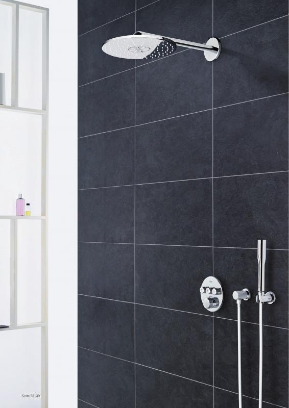 duschsystem unterputz grohe grohtherm smartcontrol mit rainshower 34705000 ebay. Black Bedroom Furniture Sets. Home Design Ideas