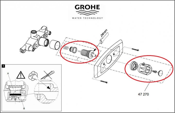grohe grohmix 47270000 thermoelement online shop. Black Bedroom Furniture Sets. Home Design Ideas